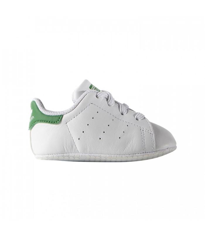 Patucos adidas Stan Smith para bebé de color blanco y verde 4d789e75c2bf2