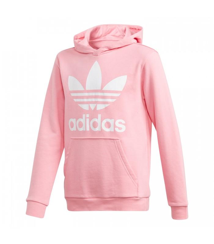 1c380476c Sudadera con capucha adidas Trefoil para niños en color rosa