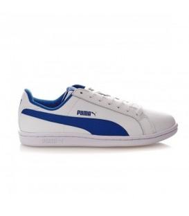 d74848e635a3a Zapatillas con cordones Puma Smash V2L Junior 365170-07 de color blanco y  azul al