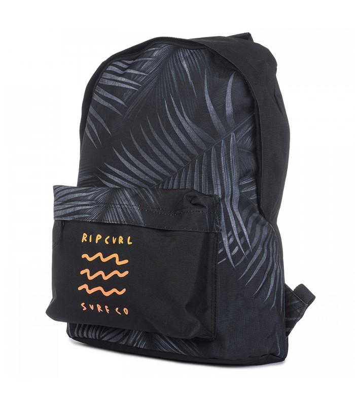 Mochila Rip Curl Dome Glow Wave en color gris y negro 02718f9fa0b