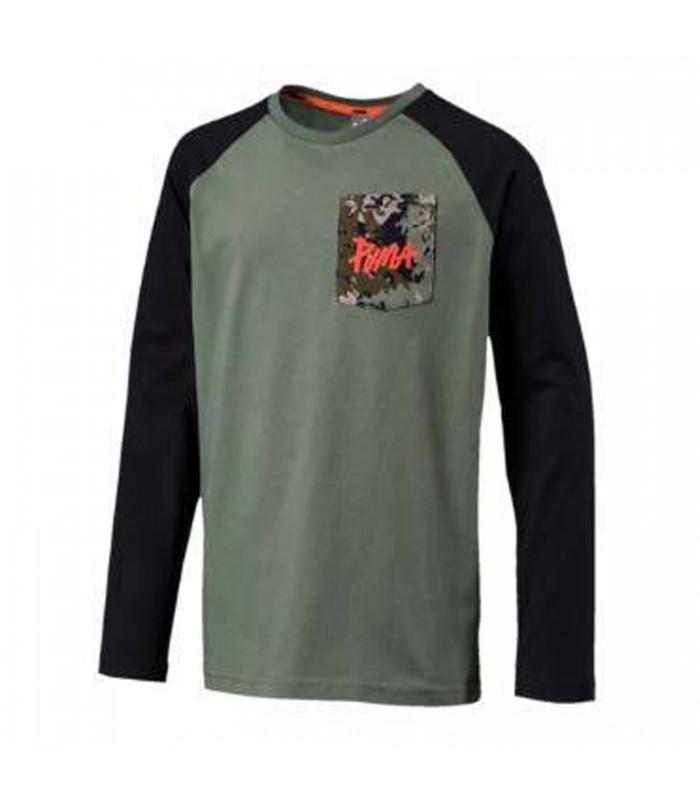 Camiseta Puma Style para niños en color verde y negro a7d7607428e31