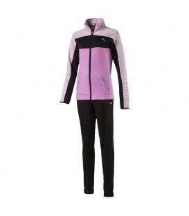 Chándal Puma Graphic 851844-01 para niños en color negro y rosa, chándal con pantalón ajustable con cordón al mejor precio en chemasport.es