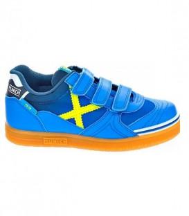 Zapatillas de fútbol sala para niños Munich G3 Kids VCO Indoor 876 de color azul. Ref: 1515876