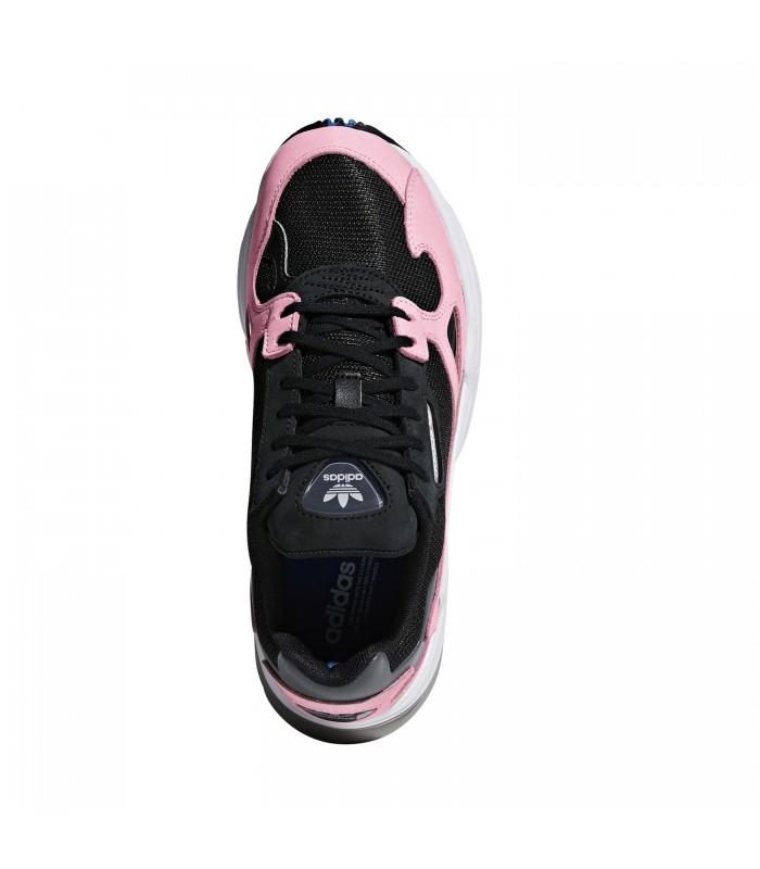 adidas falcon negras y rosa