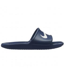Chanclas unisex para hombre y mujer Nike Kawa AQ0899-401 de color azul marino al mejor precio en chemasport.es