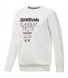 Sudadera Reebok Classics Fleece Crew – International DJ1892 unisex en color blanco, sudadera de algodón orgánico, más modelos Reebok Classics en chemasport.es