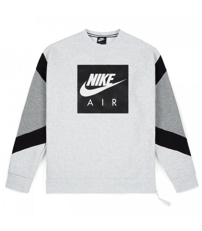Sudadera Nike Air Crew en color gris y negro