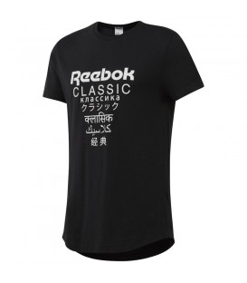 Camiseta Reebok Classics DJ1890 de color negro para hombre y mujer al mejor precio en tu tienda de deportes online barata chemasport.es
