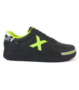 Zapatillas de fútbol sala para niños Munich G3 Kids Profit 870 1510870 de  color negro al 4082713782c