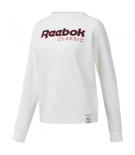 Sudadera para mujer Reebok Classics Big Logo Iconic DH1326 de color blanco al mejor precio en tu tienda de deportes online chemasport.es