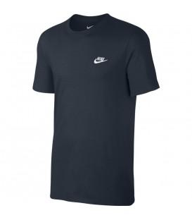 Camiseta para hombre de algodón Nike Sportwear 827021-475 de color azul marino al mejor precio en tu tienda de deportes online chemasport.es