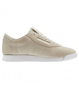 Zapatillas para mujer confeccionadas en piel Reebok Princess Leather CN3673 de color beige. Otros modelos de zapatillas para mujer chemasport.es