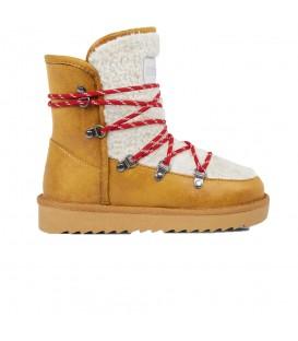 Botas de media caña para mujer D Franklin Nordic 19 Fur IIK18125-63 de color mostaza. Otras botas para mujer en chemasport.es