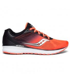 Zapatillas de running Saucony Breakthru 4 S20419-35 de color negro y rojo al mejor precio y gastos de envío gratis en chemasport.es