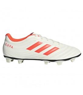 Botas de fútbol para hombre adidas copa 19.4 FG de color blanco al mejor precio y gastos de envío gratis en chemasport.es