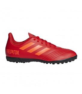 Botas de fútbol para niños adidas predator 19.4 TF J CM8557 de color rojo al mejor precio y gastos de envío gratis en chemasport.es