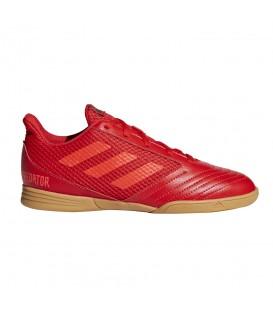 Zapatillas de fútbol sala para niños adidas Predator 19.4 In J CM8552 de color rojo al mejor precio en tu tienda de deportes en Pontevedra Chema Sport.