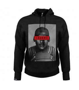 Sudadera con capucha para hombre Leg3nd Jordan con la imagen del jugador de baloncesto Michael Jordan estampada en el frontal.