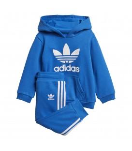 Chándal para niños adidas TRF Hoodie D96067 de color azul al mejor precio en tu tienda de deportes online chemasport.es