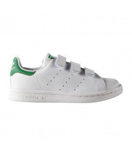 ZAPATILLAS ADIDAS STAN SMITH CF C M20607 VELCRO BLANCO VERDE