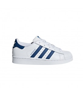 ZAPATILLAS ADIDAS SUPERSTAR C F34164 BLANCO AZUL