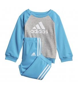 Chándal para niños adidas French Terry DV1282 de color azul y gris al mejor precio en tu tienda de deportes online chemasport.es