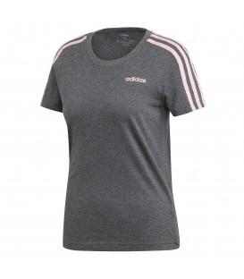 Camiseta para mujer adidas Essentials 3 Stripes Slim Tee DU0632 de color  gris al mejor precio 2f56144a779