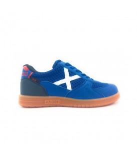Zapatillas de fútbol sala para niños Munich G3 Kids Profit 1510945 de color azul al mejor precio en chemasport.es