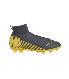 BOTAS DE FÚTBOL NIKE JR SUPERFLY 6 CLUB MG/FG GRIS