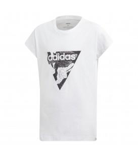 Camiseta para mujer y niños adidas essentials AOP Pack Loose DV0338 de color blanco. Otra camisetas de adidas al mejor precio en chemasport.es