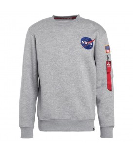 SUDADERA ALPHA INDUSTRIES SPACE SHUTTLE 178307 GRIS