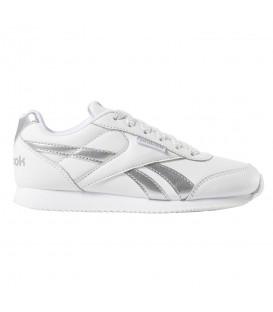 Comprar deportivas para mujer y niños Reebok Royal Classic Jog 2 DV3996 de color blanco con cordones al mejor precio en chemasport.es