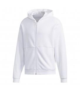 Chaqueta con capucha para hombre adidas Sport 2 Street Doubleknit DV3337 de color blanco al mejor precio en chemasport.es