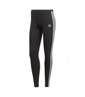 Mallas para mujer adidas 3 bandas CE2441 de color negro con bandas laterales de color blanco al mejor precio en tu tienda de deportes online.