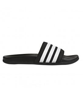 Chanclas para hombre y mujer adidas Adilette Cloudfoam Plus Stripes AP9971 de color negro al mejor precio en chemasport.es