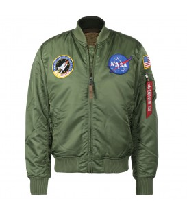 CAZADORA ALPHA INDUSTRIES MA-1 VF NASA 16670701 VERDE