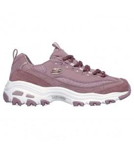 Comprar deportivas Skechers D'Lites Polka Nite 13142-MVE de color rosa en tu tienda de sneakers en Pontevedra Chema Sport.