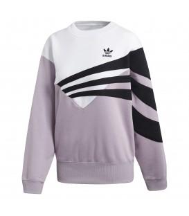 Sudadera para mujer adidas sweater DP5611 de color rosa con el logo de adidas originals en la parte delantera al mejor precio en Chema Sneakers.