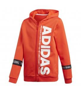 Chaqueta para niños adidas Sport ID DV1715 de color naranja con capucha y cremallera al mejor precio en tu tienda de deportes online chemasport.es