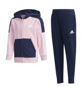 Chándal para niños adidas Fitted DY9234 de color rosa y azul marino al mejor precio en chemasport.es