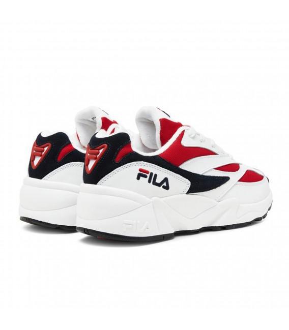 zapatos fila hombre blancos rojas