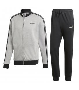 Chándal para hombre adidas Cotton Relax DV2444 de color gris y negro. Otros modelos de chándal para hombre en chemasport.es