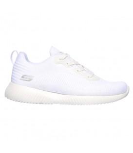 Comprar deportivas Skechers Bobs Sport Squad - Tough talk 32504-WHT de color blanco para mujer al mejor precio en chemasport.es
