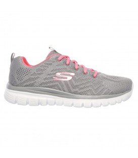 ZAPATILLAS SKECHERS GRACEFUL-GET CONNECTED 12615-GYCL GRIS