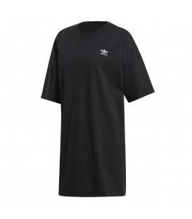 Vestido para mujer adidas Trefoil DV2607 de color negro al mejor precio en tu tienda de moda online chemasport.es