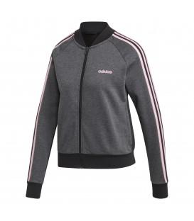Chaqueta con cremallera adidas Essentials Seasonal DT8607 de color gris y rosa al mejor precio en chemasport.es