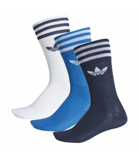 PACK 3 PARES CALCETINES ADIDAS SOLID CREW SOCK