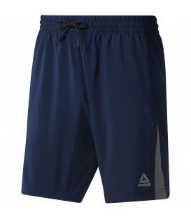 Comprar pantalón corto de entrenamiento para hombre Reebok Wor Woven DU2174 de color azul al mejor precio en chemasport.es