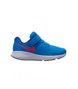 Comprar deportivas running de niños nike Star Runner PSV 921443-408 de color azul con velcro al mejor precio en chemasport.es