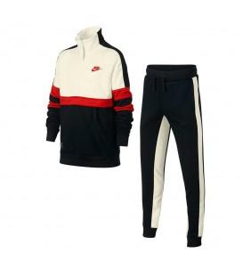 Chandal para niños Nike Air AQ9423-011 de color azul marino y blanco al mejor precio en chemasport.es